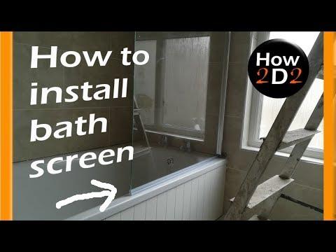 How to install bath screen door       Half framed shower door installation