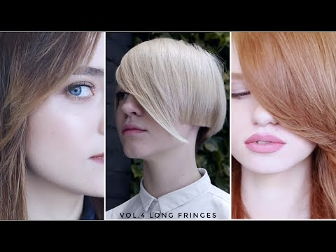 how to cut long fringe, 7 different ways