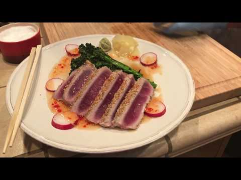 Memorial Day Special: How to sear fresh Japanese ahi tuna in a cast iron skillet.