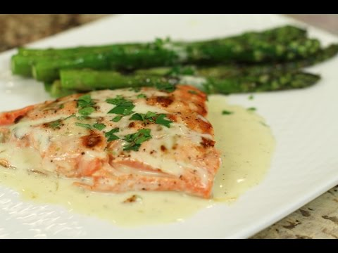 Grilled Salmon With Lime Butter Sauce | Rockin Robin Cooks