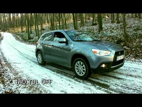 Mitsubishi ASX 2WD 4WD LOCK AWD test on snow & ice -  RVR / Outlander Sport