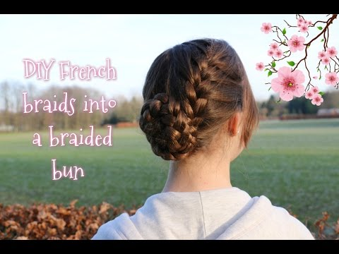 How to: DIY French Braids into Braided Bun | Yiyayellow Hairstyles
