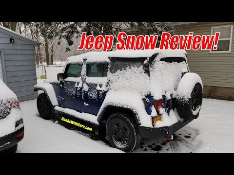 Driving My Jeep Wrangler Unlimited in the Snow. | How is a Jeep Wrangler in Snow?