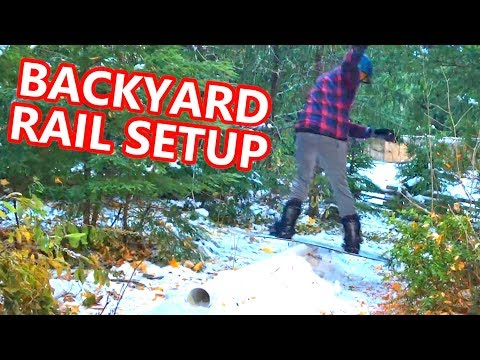 Backyard Snowboarding Rail Setup!!!