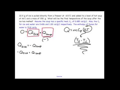 Calculating equilibrium temperature that includes a phase change: Chemistry sample problem