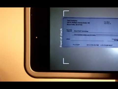 Paypal Iphone app to deposit checks