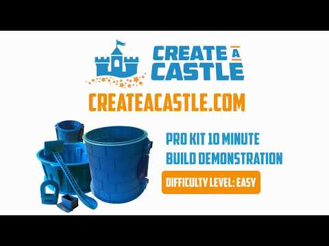 Create A Castle Sand Castle Pro Kit Tutorial - How to fill & split your pro kit in under 10 minutes