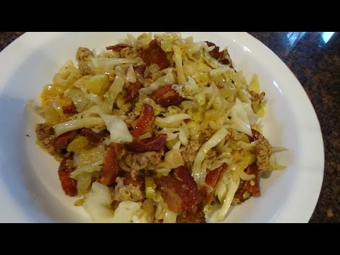 Low Carb Bacon cabbage sausage