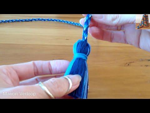 Making a tassel on a cord / Een kwastje maken aan een koord