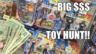 FOUND MONEY WWE TOY HUNT! Elite 37, NEW Battlepack Wrestling Figures at WALMART