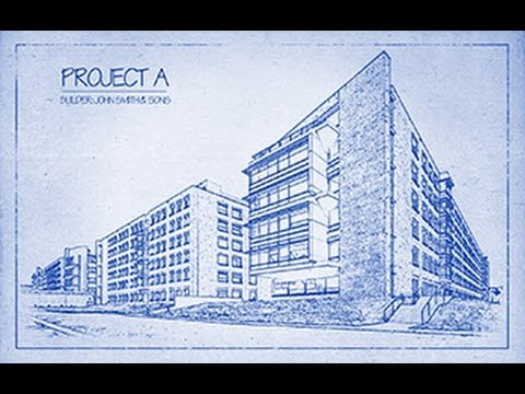 Photoshop Tutorial: How to Transform a Photo into an Architect's BLUEPRINT Drawing.