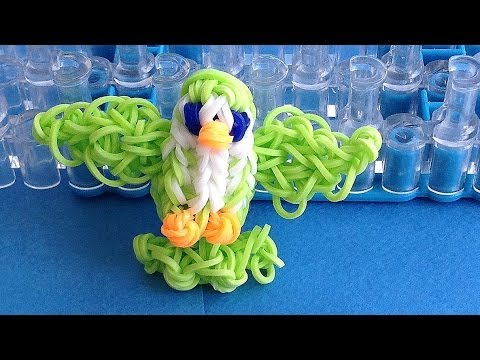 Rainbow Loom Charms 3D Bird loom bands Charm: How to make with loom / bands