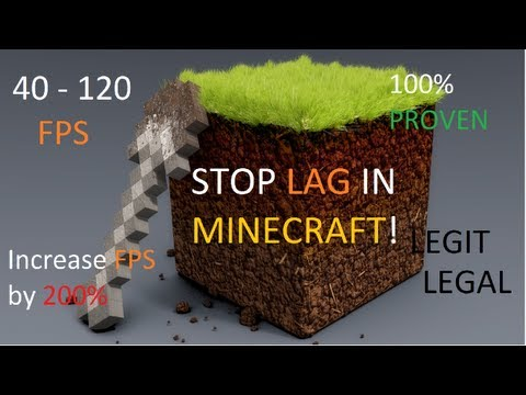 STOP LAG IN MINECRAFT, INCREASE FPS UP TO 200% (40-120 FPS) How to PC {Reduce} [Get rid] FIX