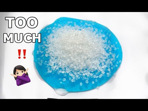 ADDING TOO MUCH INGREDIENTS TO SLIME