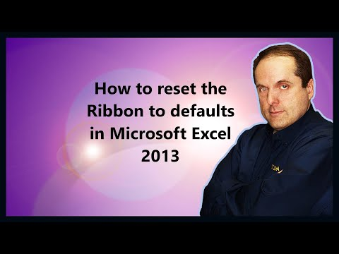 How to reset the Ribbon to defaults in Microsoft Excel 2013