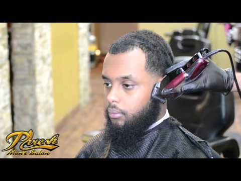 Full barber tutorial - Low taper fade with beard enhancement using Henna | 2016