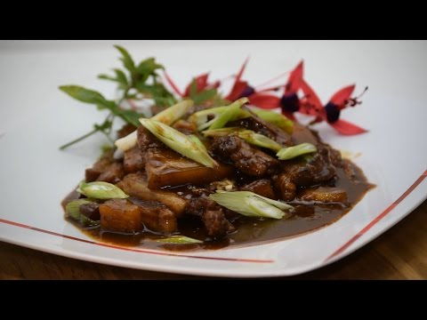 Filipino Pork Adobo With Pineapple (Asian Style Cooking Recipe)