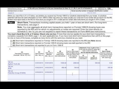 How to fill out IRS Form 8949