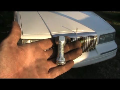How To Replace A Rear Wheel Stud On 1997 Lincoln Town Car