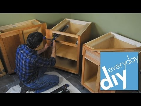How to Install Kitchen Cabinets -- Buildipedia DIY