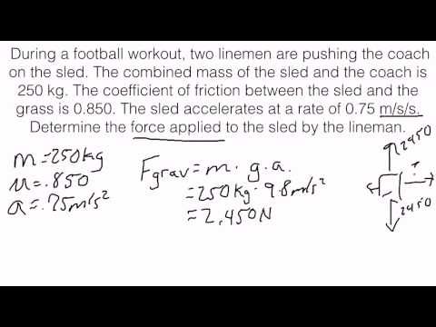 Newton's Second Law of Motion - Solving for Applied Force
