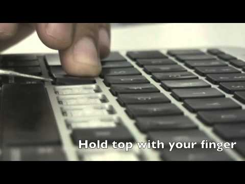 Removing the key caps on a Macbook Air 2011/2012 the correct way