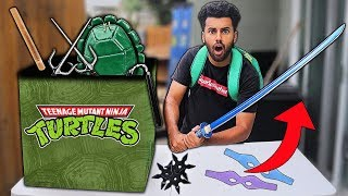 I Bought A $500 Teenage Mutant Ninja Turtles WEAPONS Mystery Box!! *IN REAL LIFE*