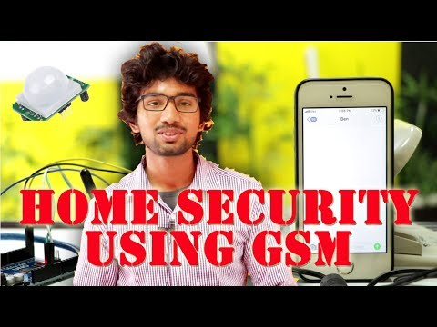 Home security using GSM  example with Code