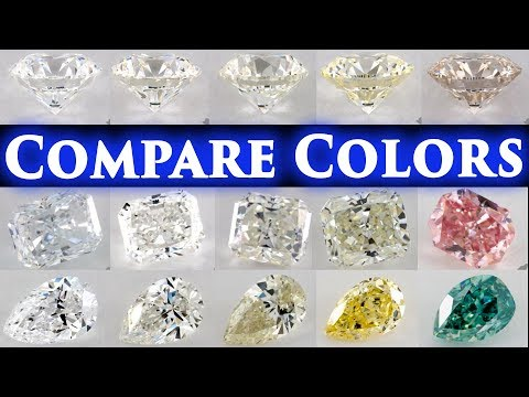Diamond Color Comparison Shade Grade Chart D vs E, F, G, H, I, J, K, L Difference Engagement Ring