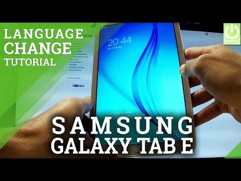 How to Change Language in SAMSUNG Galaxy Tab E - Language Settings