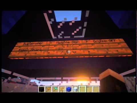 Minecraft Movecraft Feature Tutorial: Remote Signs / Remote Turret Control