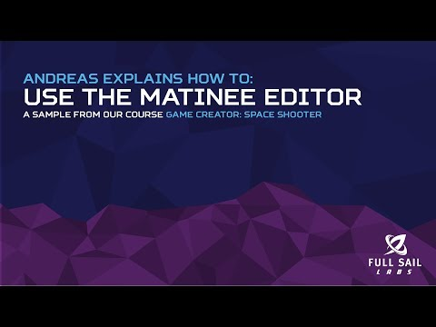 Using the Matinee Editor | Game Creator: Space Shooter
