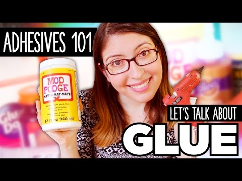 Let's Talk about GLUE ~ Adhesives 101 by @karenkavett