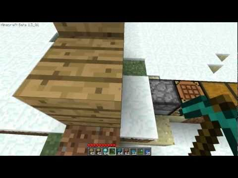 Minecraft: How To Make A Diamond Pickaxe Statue
