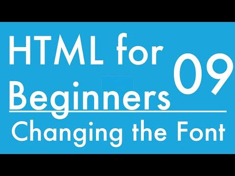 Basics of HTML - Tutorial 9 - How to Change the Font for a Webpage (font-family)