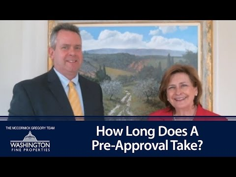 Washington D.C. Real Estate: How long does a pre-approval take?