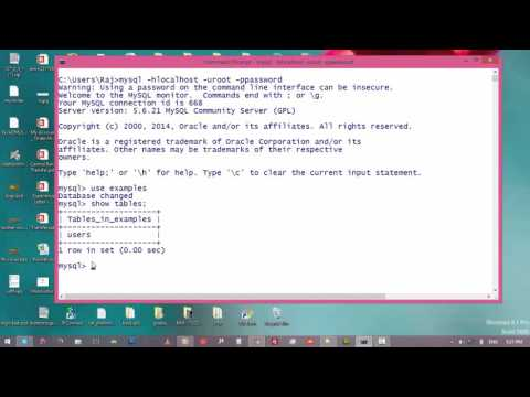 12. How To Change The Name Of The Table In mySql Database || Command Prompt and MySql Tutorial