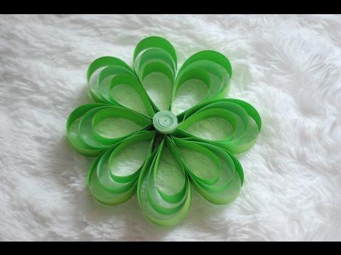 Jak zrobić Kwiaty z Pasków Papieru / How to make Paper Strip Flowers