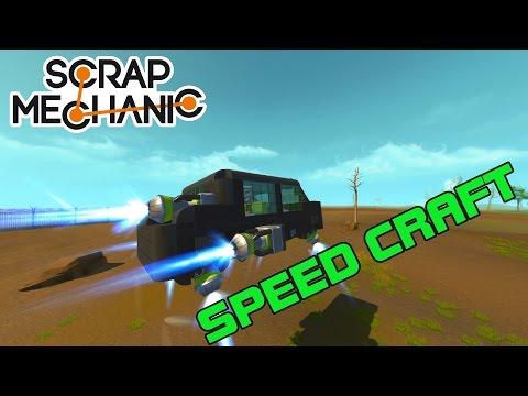 CRAZY FAST HOVERCRAFT CAR! SPEED CRAFT! (Scrap Mechanic #23)
