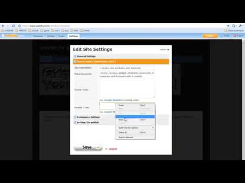 Verifying Weebly website with Google webmaster