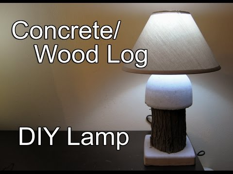 How to make Concrete and Wood Log Lamp at Home