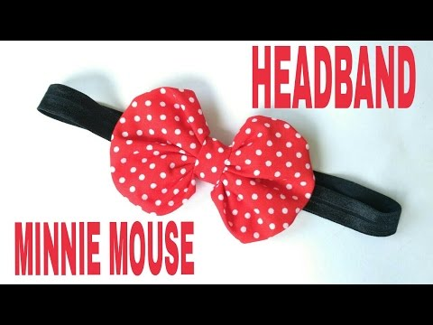 DIY Minnie Mouse Headband For Baby DIY by Elysia Handmade
