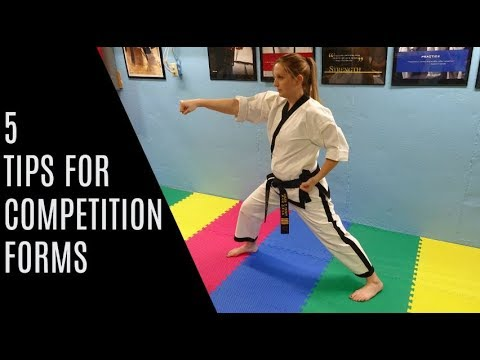 Tips For Better Competition Forms | Sport Karate