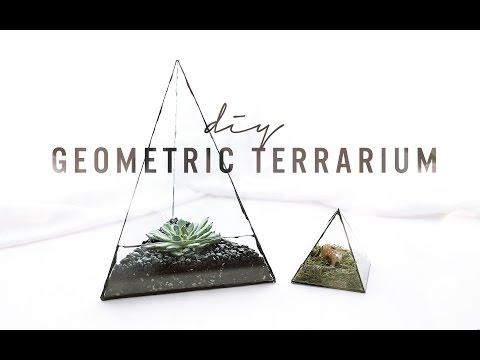 DIY GEOMETRIC GLASS TERRARIUM | THE SORRY GIRLS
