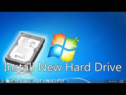 How to Install New Hard Drive Windows 7