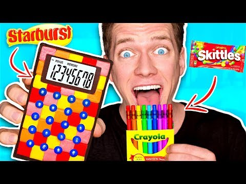DIY Edible School Supplies!!! *FUNNY PRANKS* Back To School! Learn How To Prank using Candy & Food