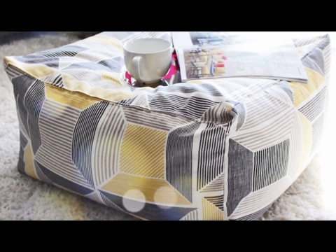 How To Quickly Sew A Floor Pouf Ottoman
