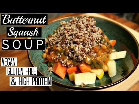 📝 Quick and Easy Butternut Squash Soup | High Protein, Vegan, and Gluten Free ! 💛🌿