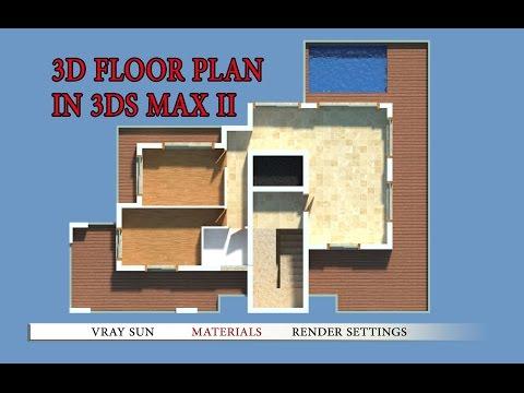 How to make 3d floor plan 3ds max part II