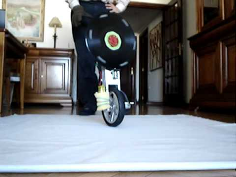 Long unicycle balance